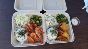 Some of the tasty shrimp plates offered at the Country Fair