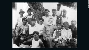 Brother Joseph Dutton with the boys from Bishop Home. Image credit: Wikipedia Commons