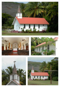 Our Lady Of Sevens Sorrows Catholic Church on Molokai, built by Father Damien (now St. Damien)